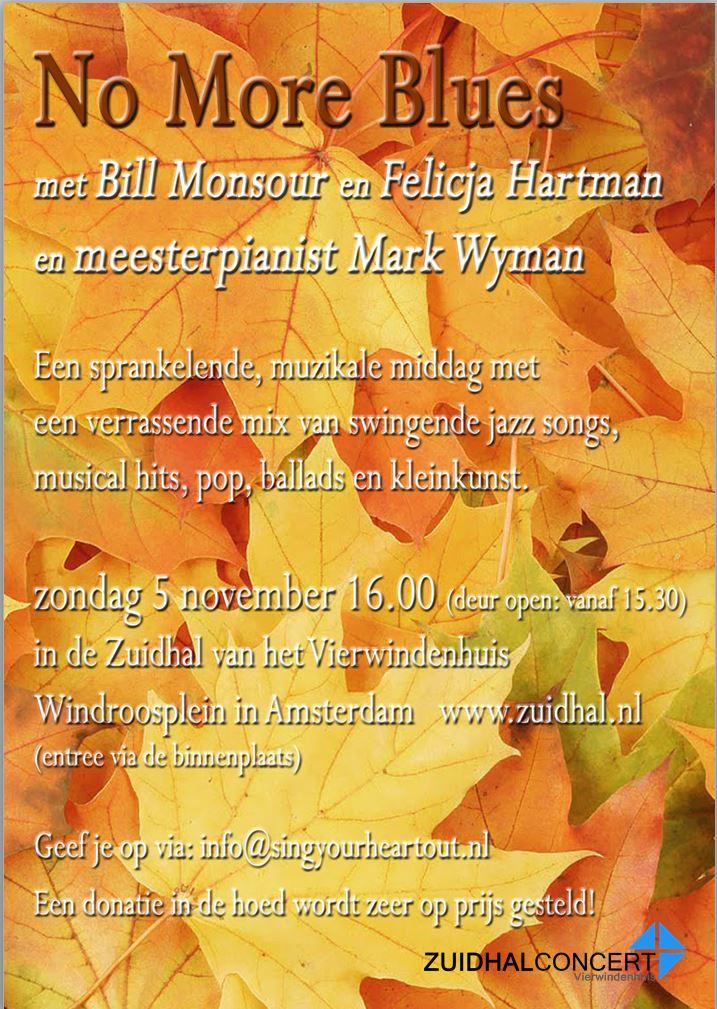 Een sprankelende, muzikale middag in de Zuidhal met Bill Monsour en Felicja Hartman